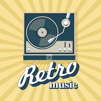 Lecteur pour disques vinyles. logo, emblème.