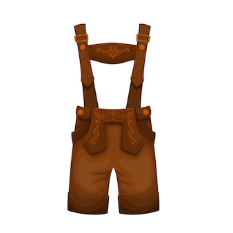 Lederhosen, costume pour homme. costume folklorique de la fête de la bière traditionnelle oktoberfest. illustration vectorielle.