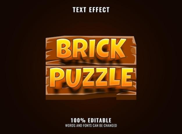 Légende de diamant brillant doré fantaisie des héros effet de texte du logo du titre du jeu modifiable