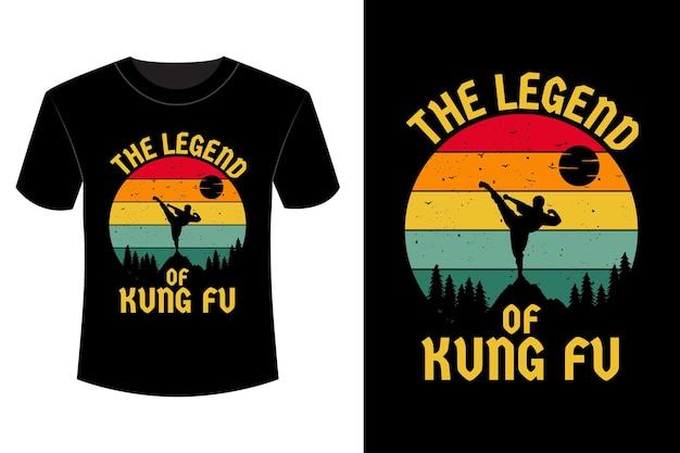 La légende du t-shirt design rétro vintage