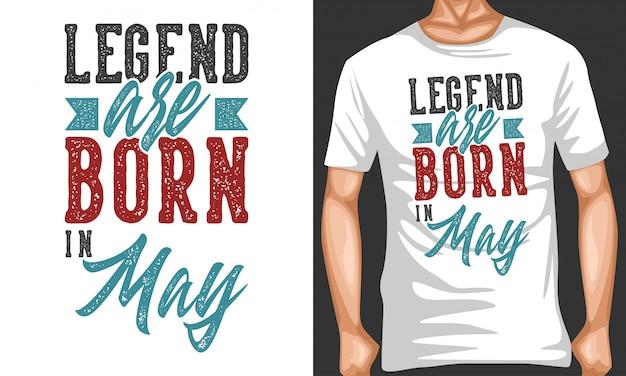 La légende est née en mai lettrage citations