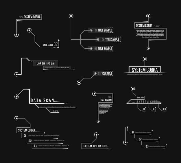 Légende, en-têtes pour infographie, publicité.