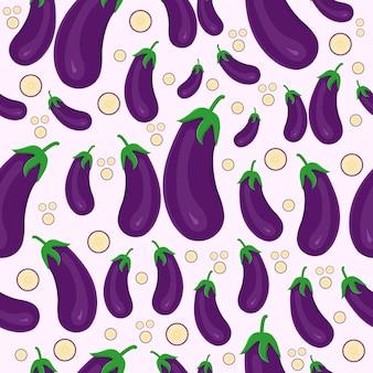Légume aubergine modèle sans couture