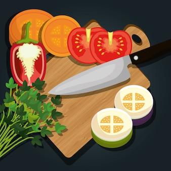 Légumes aliments sains
