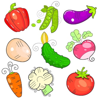 Légumes d'art. la propriété flatstyle. la puissance est isolée.