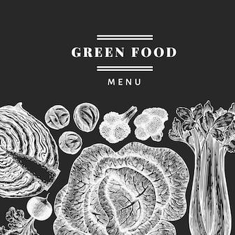 Légumes de croquis dessinés à la main