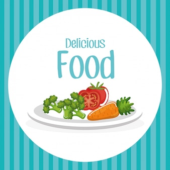 Légumes délicieux plats petit déjeuner