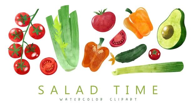 Légumes dessinés à la main