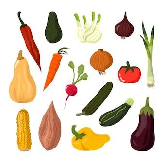 Légumes fixés