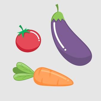 Légumes frais sains du dessin vectoriel de récolte
