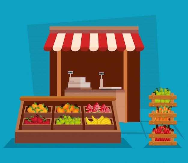 Légumes et fruits sains nutrition biologique