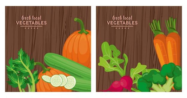 Légumes locaux frais