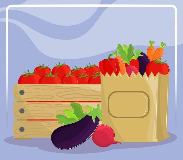 Légumes produits frais