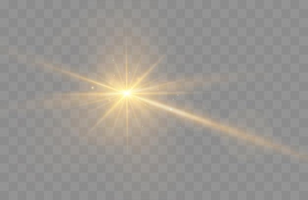 Lens flare vector illustration brillant effet de lumière étincelle isolé sur fond transparent