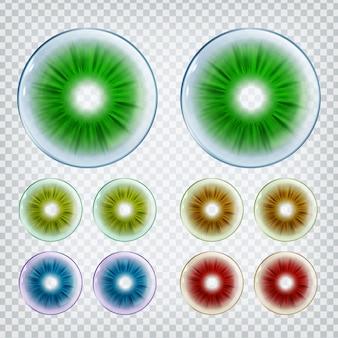Lentilles optiques de contact médical élégant