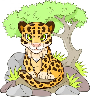 Léopard de dessin animé