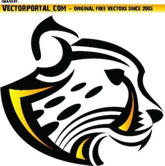 Léopard sauvage illustration vectorielle de la tête