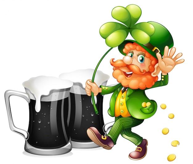 Leprechaun et bière noire