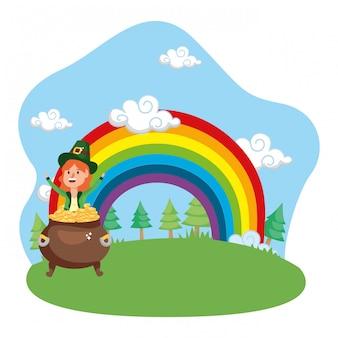 Leprechaun gold rainbow