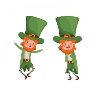 Leprechauns personnage avatar debout