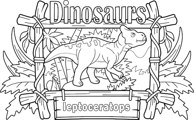 Leptocératops de dinosaure