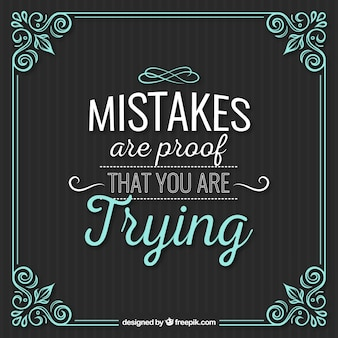 Les erreurs citent avec cadre ornemental cru