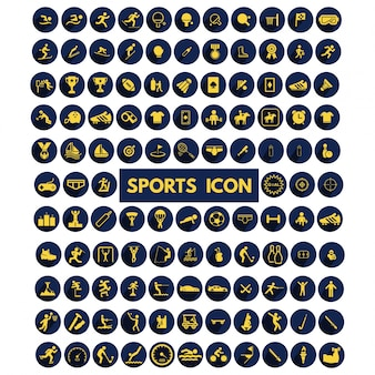 Les grands sports collection icons set