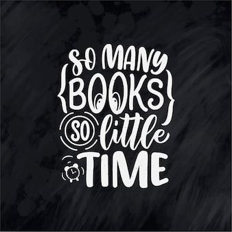 Lettrage abstrait sur les livres et la lecture