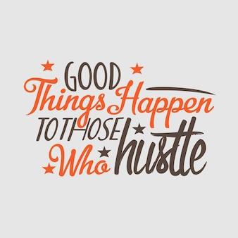 Lettrage affiche de typographie citations de motivation