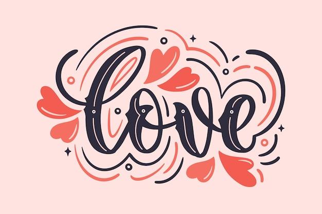 Lettrage d'amour dans un style vintage