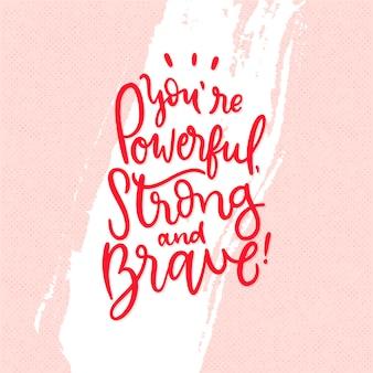 Lettrage d'amour-propre avec message positif