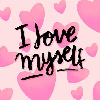 Lettrage d'amour de soi