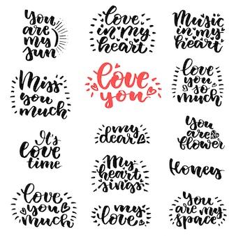 Lettrage d'amour