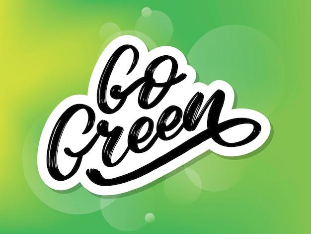 Lettrage au pinceau tendance go green