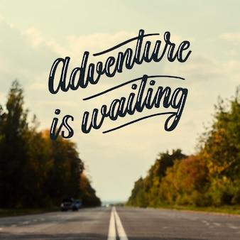 Lettrage d'aventure de motivation