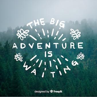 Lettrage d'aventure avec photo