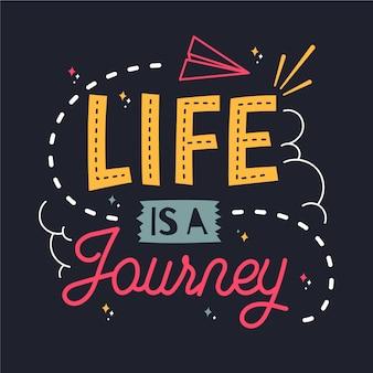 Lettrage aventure / voyage