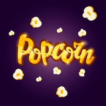 Lettrage bannière popcorn.