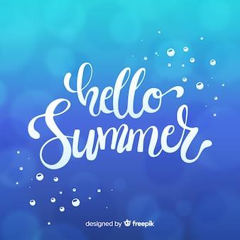 Lettrage bonjour l'été