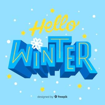 Lettrage bonjour hiver