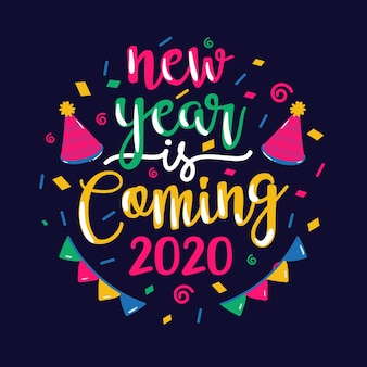 Lettrage bonne année 2020