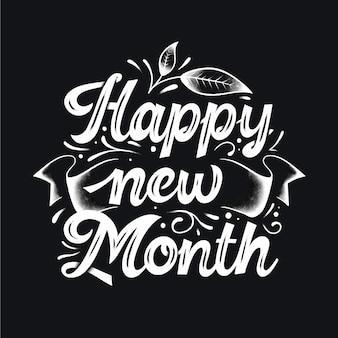 Lettrage `` bonne année '' avec des détails dessinés à la main