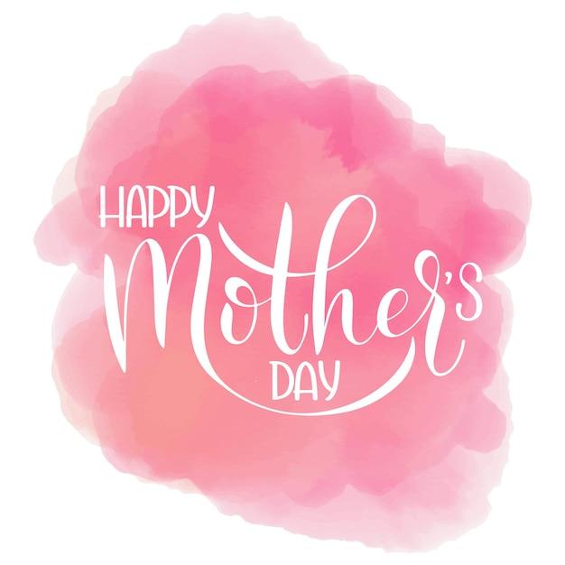 Lettrage de bonne fête des mères. conception de carte de voeux. texte dessiné à la main sur fond de nuage