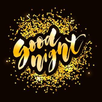 Lettrage bonne nuit