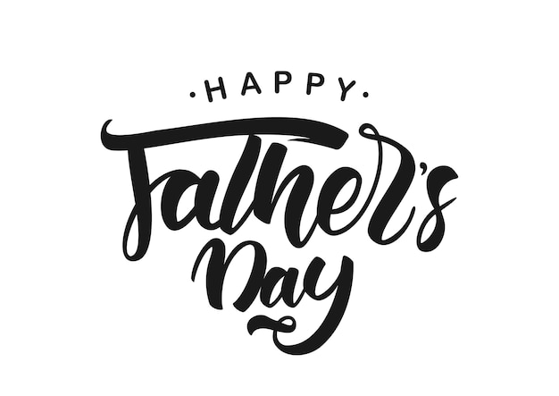 Lettrage de brosse manuscrite de la fête des pères heureux