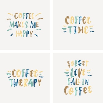 Lettrage sur le café