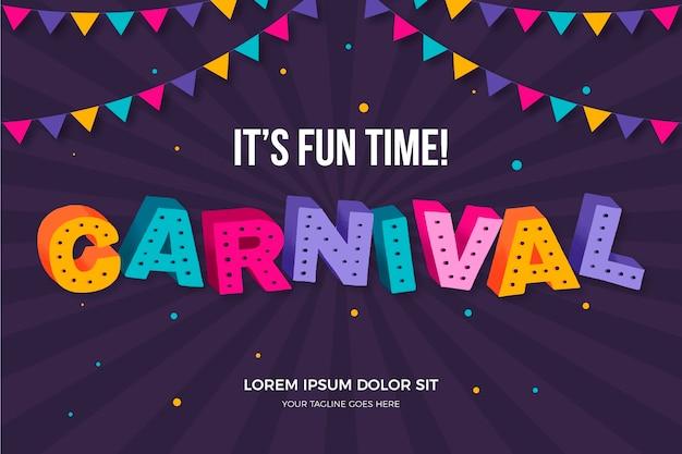 Lettrage de carnaval coloré