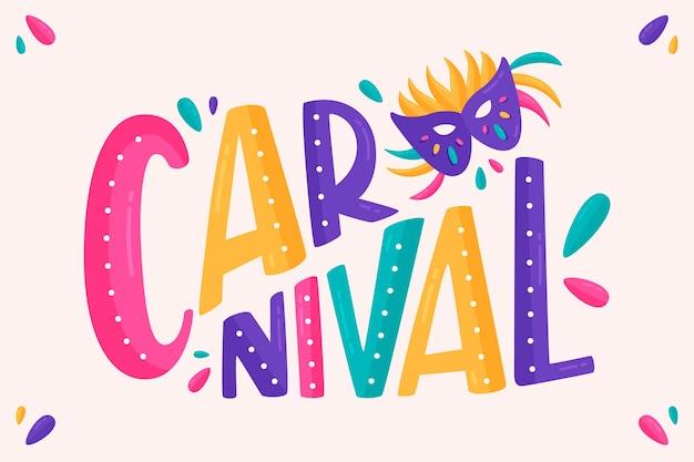 Lettrage de carnaval sur fond blanc