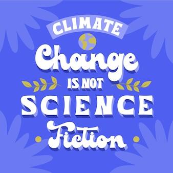 Lettrage de changement climatique de style dessiné à la main