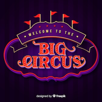 Lettrage de cirque vintage